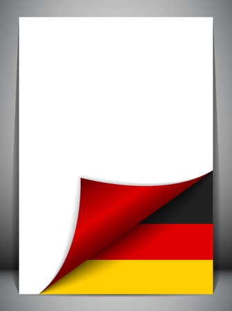Germany Country Flag Turning Page Vector