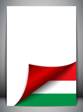 Hungary Country Flag Turning Page Vector