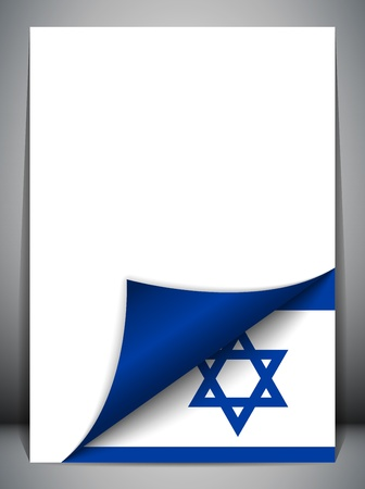 israeli: Israel Country Flag Turning Page