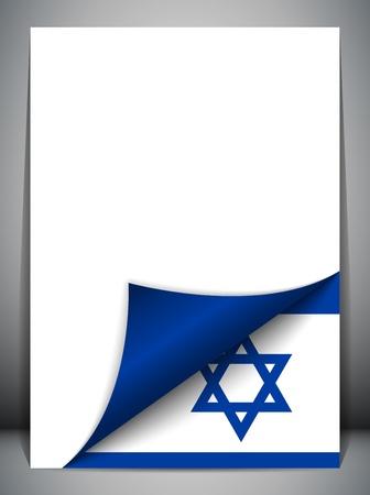 israeli: Pa�s Bandera de Israel Turning p�gina Vectores