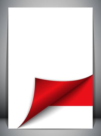 official symbol: Monaco Country Flag Turning Page Illustration