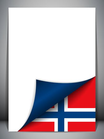 norway flag: Norway Country Flag Turning Page Illustration