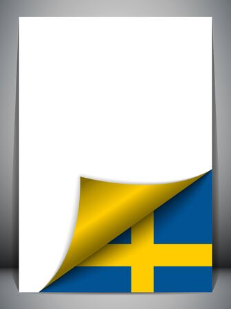 sweden flag: Sweden Country Flag Turning Page