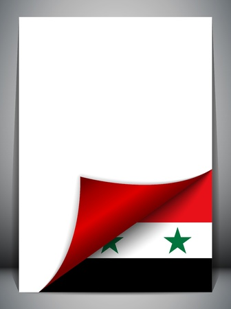 Syria Country Flag Turning Page Stock Vector - 16659209