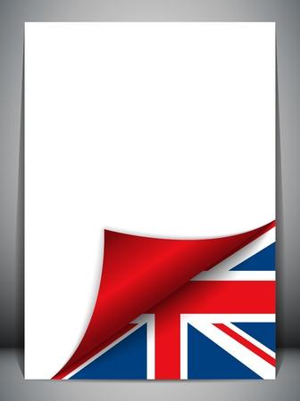 tornitura: United Kingdom Paese Bandiera Pagina Tornitura Vettoriali