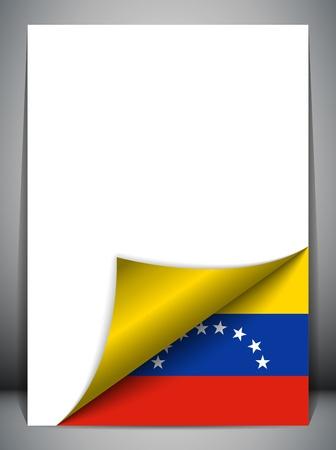 venezuela: Venezuela Country Flag Turning Page