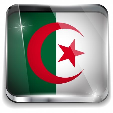 algerian flag:  Algeria Flag Smartphone Application Square Buttons