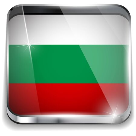 Bulgaria Flag Smartphone Application Square Buttons Stock Vector - 16887826