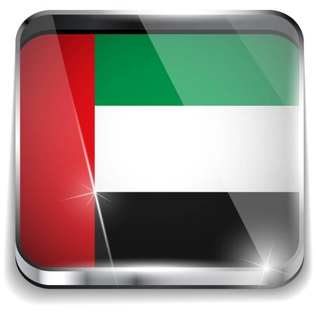 Emirates Flag Smartphone Application Square Buttons Stock Vector - 16887820