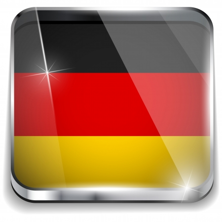 Germany Flag Smartphone Application Square Buttons Stock Vector - 16887817