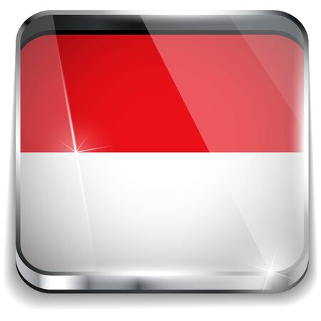Monaco Flag Smartphone Application Square Buttons Stock Vector - 16887816