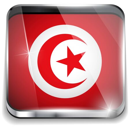 Turkey Flag Smartphone Application Square Buttons Vector