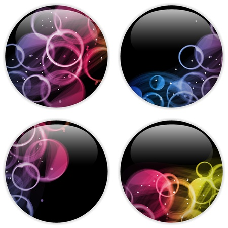repetition dotted row: Glass Circle Button Colorful Dots