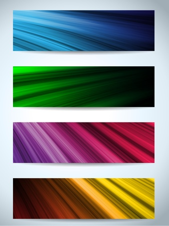 Vectors - Colorful Web Banners Backgrounds Stock Vector - 17190765