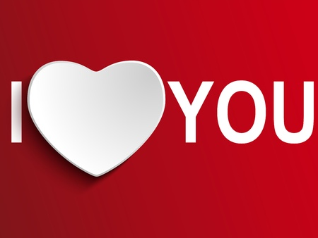 word love: Vector - Valentine Day I Love you Heart