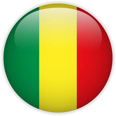 mali: Vector - Mali Flag Glossy Button