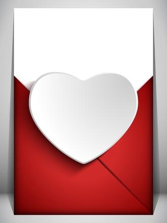 carta de amor: Vector - Día de San Valentín Corazón Love Letter