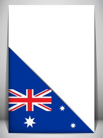 Australia Country Flag Turning Page Stock Vector - 17303006