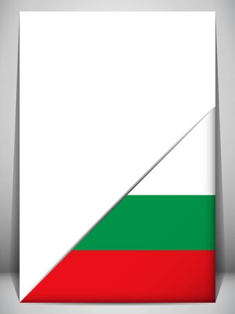 paper fold: Bulgaria Country Flag Turning Page