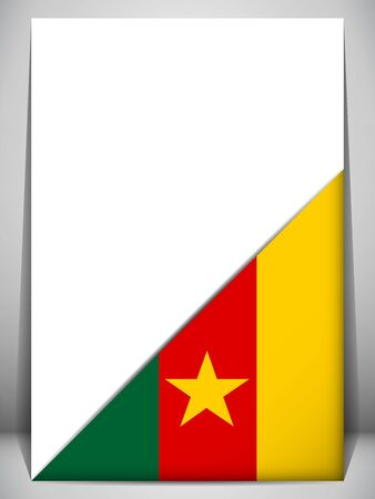 Cameroon Country Flag Turning Page Vector