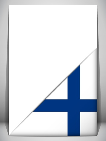 finland: Finland Country Flag Turning Page