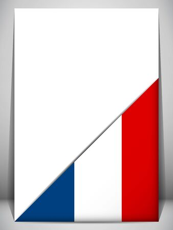 flag french icon: France Country Flag Turning Page