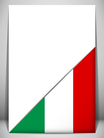 Italy Country Flag Turning Page Stock Vector - 17302933