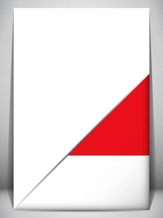 monegasque: Monaco Country Flag Turning Page Illustration