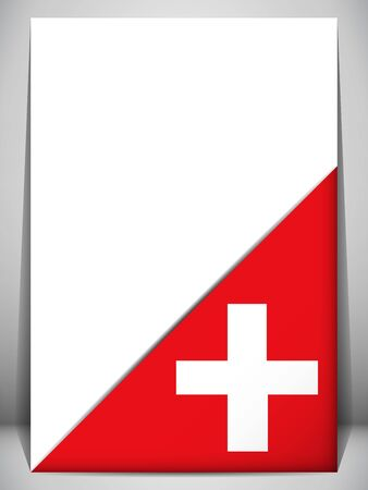 switzerland flag: Switzerland Country Flag Turning Page