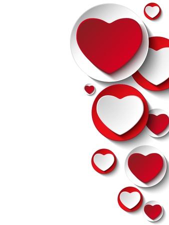 february valentine:  Valentine Day Heart on White Button