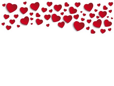 흰색 배경에 발렌타인 데이 하트 일러스트