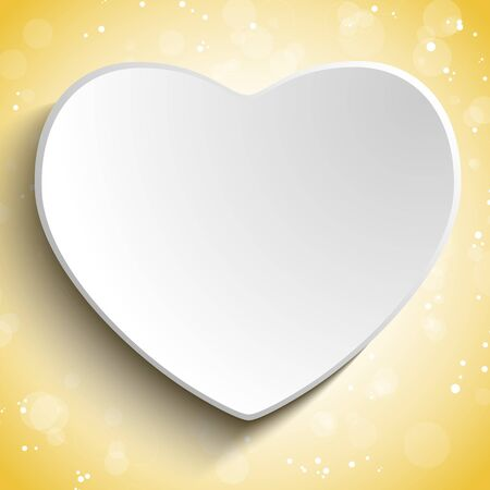 Valentine Day Heart on Gold Background Vector
