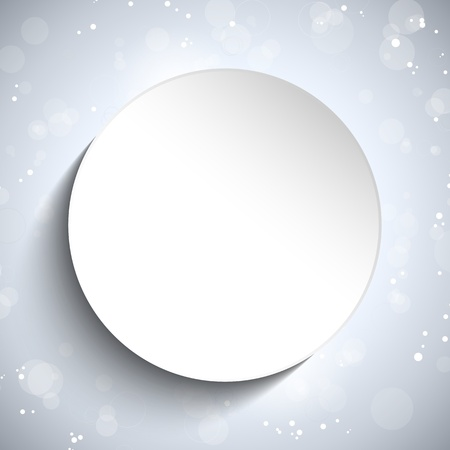 Vector - Modern White Circle Glowing Effects Vector