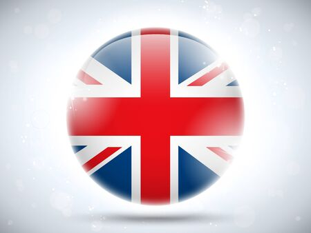 Vector - United Kingdom Flag Glossy Button Stock Vector - 18531187