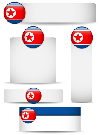 North Korea Country Set of Banners Stock Vector - 18939971