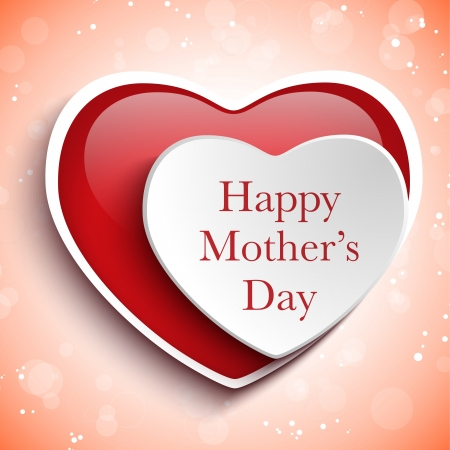 Happy Mother Day Heart Background 向量圖像