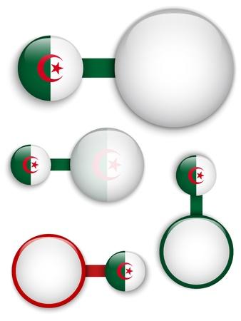 algeria:  Algeria Country Set of Banners Illustration