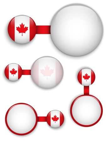Vector - Canada Country Set of Banners Vector