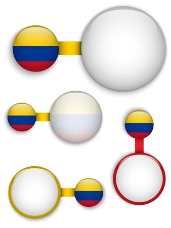 colombia flag:  Colombia Country Set of Banners