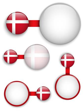 Denmark Country Set of Banners Stock Vector - 19151434