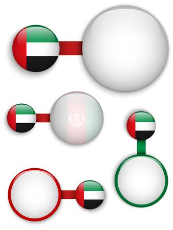 emirates: Vector - United Arab Emirates Country Set of Banners Illustration