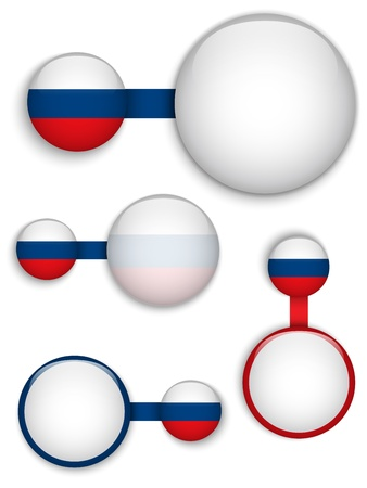 russia flag:  Russia Country Set of Banners Illustration