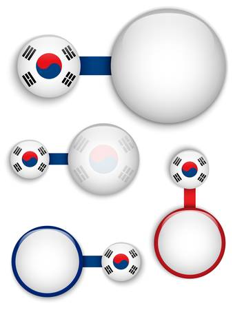 Vector - South Korea Country Set of Banners Stock Vector - 19151442