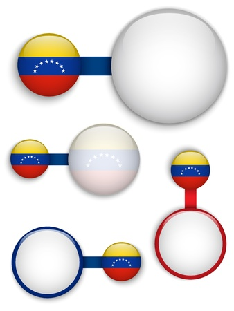 Vector - Venezuela Country Set of Banners Vector