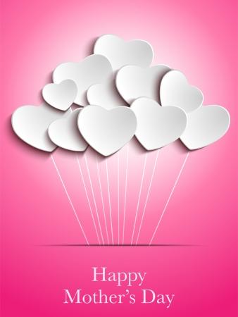 dzień matki: Vector - Happy Day Matka tÅ'o serca