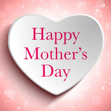 Vector - Happy Mother Day Heart Background Vector