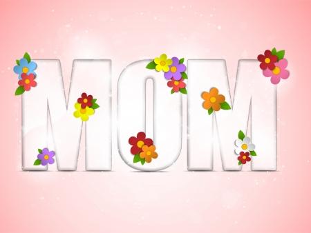 Vector - Happy Mother Day Flower Background Vector