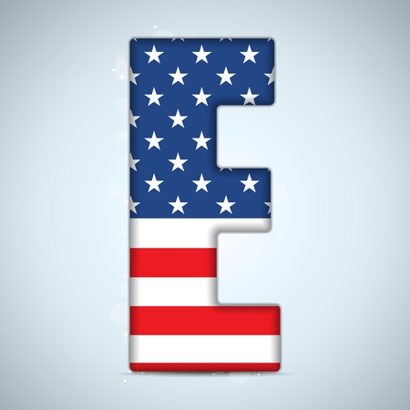 Vector - USA Independence Day Alphabet Letters Vector