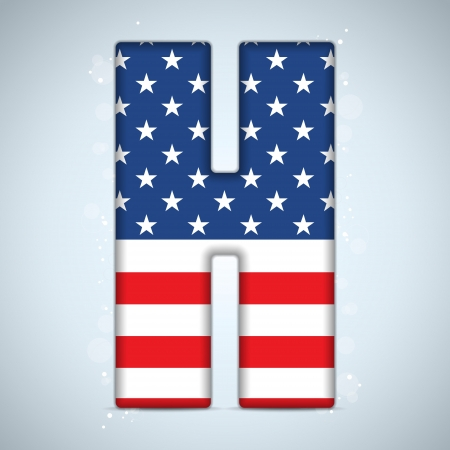us independance: Vector - USA Independence Day Alphabet Letters
