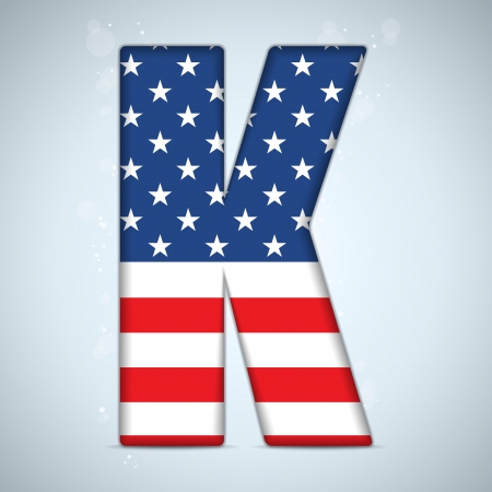 Vector - USA Independence Day Alphabet Letters